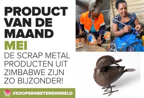 Objecten van 'scrap metal' uit Zimbabwe